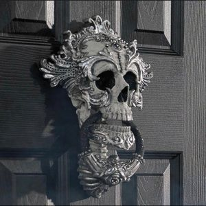 Katherines Collection Elaborate Skull Door Knocker